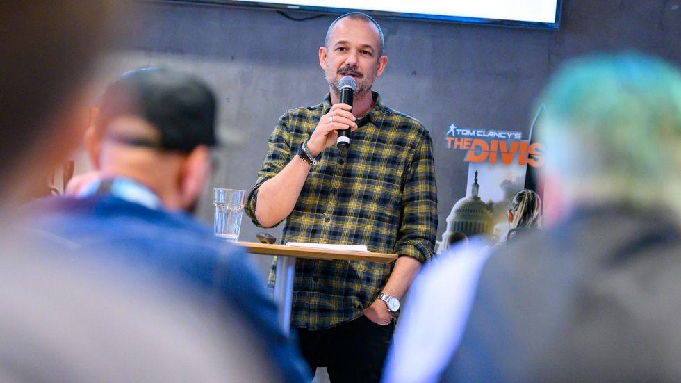Vd David Polfeldt vid mediapresentationen inför lanseringen av spelet The Division 2 på Massives kontor i Malmö.