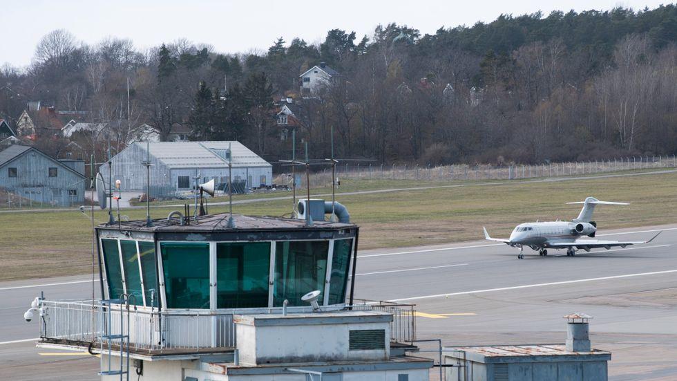 Bromma flygplats.