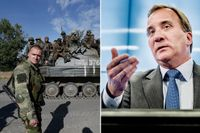 Stefan Löfven (S) pressades hårt i partiledarutfrågningen i SVT på söndagen om konflikten i Ukraina ska klassificeras som krig eller inte. Nu får S-ledaren kritik.