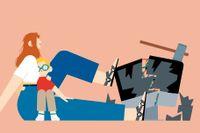 Att bli arg är normalt, men inte för arg. Illustration: Sergio Membrillas/Aftenposten