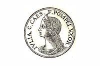 Julia Caesar, dotter till Julius och gift med Pompejus.