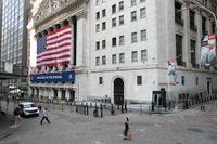Oroligt på aktiemarknaden i New York under veckans sista handelsdag. Arkivbild.