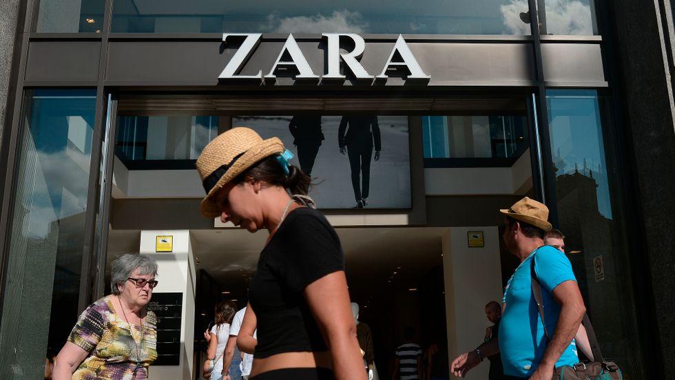 Kraftiga försäljningslyft redovisas av Zaras ägare Inditex. Arkivbild
