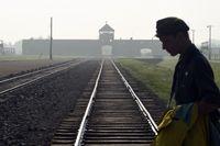 Järnvägsspåren mot nazisternas tidigare koncentrationsläger Auschwitz-Birkenau i Polen.
