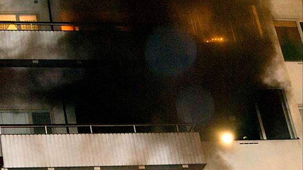 Lägenheten på Norr Mälarstrand rökfylldes.