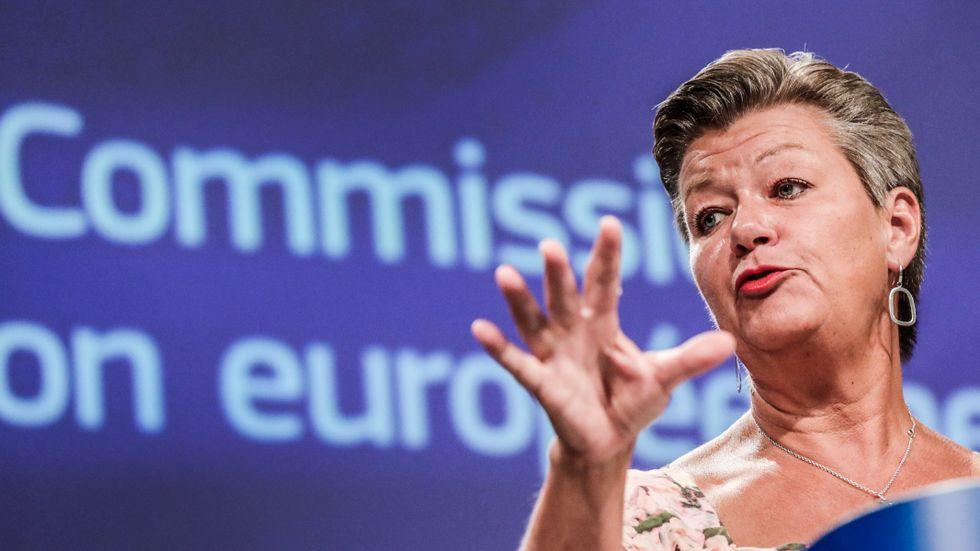 EU-kommissionären Ylva Johansson.