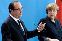 Tysklands förbundskansler Angela Merkel och Frankrikes president François Hollande träffades i Berlin.