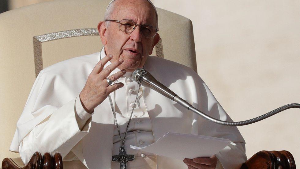 Påve Franciskus uppmanar de europeiska ledarna att sluta gräla om migranterna på Medelhavet. Arkivbild.