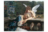 """Julius Kronberg, """"Insomnad"""", olja på duk, 1883."""