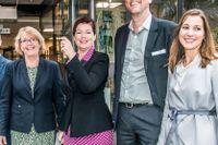 Stockholms nya landstingsråd. Charlotte Broberg (M), Tobias Nässén (M), Tomas Eriksson (MP), Kristoffer Tamsons (M), Irene Svenonius (M),  Anna Starbrink (L), Gustav Hemming (C) och Ella Bohlin (KD).