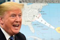 President Trump pratar om förberedelserna inför orkanen Florence som just nu drabbar USA:s östkust.
