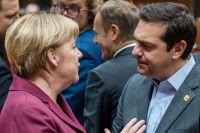 Tysklands förbundskansler Angela Merkel och grekiske premiärministern Alexis Tsipras.