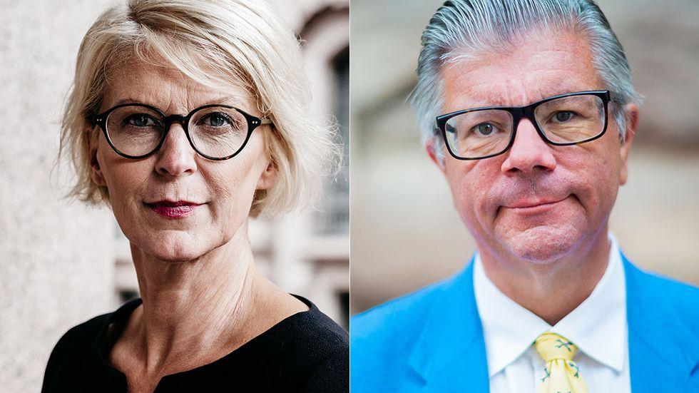 Elisabeth Svantesson och Hans Wallmark, Moderaterna.