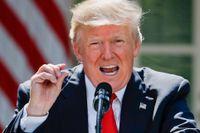 Donald Trump vid talet där han meddelar att USA lämnar Parisavtalet. Många undrar om presidenten även kommer låta landet dra sig ur WTO.