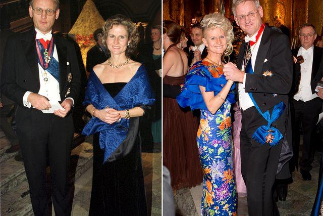 Paret Corazza Bildt under Nobelfesten 1999 och 2011.