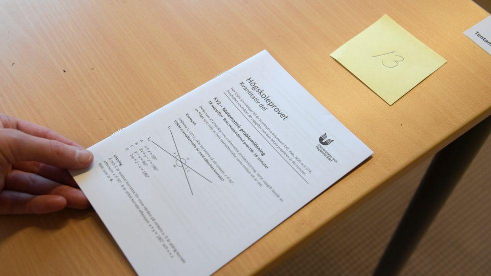 Det blir två högskoleprov till våren, enligt provsamordnare Peter Honeths förslag. Arkivbild.