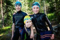 Olle och Sigge började med swimrun för ungefär sex år sedan. Greta började för fyra år sedan.