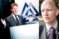 Jan Johansson, VD och koncernchef för SCA, och Albin Rännar Aktiespararnas chef för marknadsbevakning.