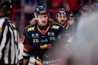 Djurgårdens Axel Jonsson-Fjällby jublar efter sitt 2–0 mål i den andra SM-finalen mot Frölunda.