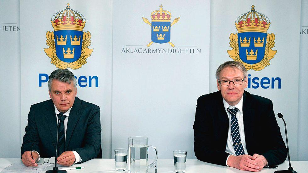 Spaningsledare Hans Melander och chefsåklagare Krister Petersson höll i juni i fjol en digital pressträff om Palmeutredningen. Krister Petersson pekade ut Stig Engström, även kallad Skandiamannen, som statsminister Olof Palmes trolige mördare.