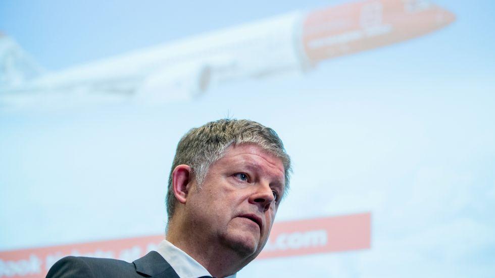 Norwegians koncernchef Jacob Schram redovisade en nettoförlust på 1,6 miljarder norska kronor under 2019. Nu hoppas han på elflyg.