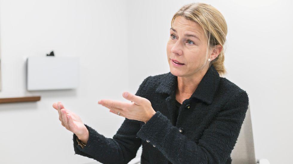 Lena Sellgren, chefsekonom på Business Sweden, ser en skakig återhämtning framför sig som kommer präglas av pandemin ett tag till. Arkivbild.