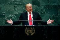 President Donald Trump i FN:s generalförsamling.
