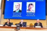 Nobelpriset i kemi går till Benjamin List och David MacMillian.