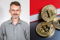 """""""Lite tillspetsat kan man säga att koldioxidavtrycket för en enda transaktion med bitcoin är lika stort som för en flygresa tvärs över Europa"""", säger Chalmersprofessorn Erik Agrell."""