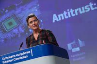 Danska Margrethe Vestager är EU:s digitaliserings- och konkurrenskommissionär. Arkivbild.
