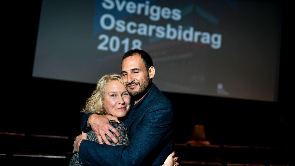"""Huvudrollsinnehavaren Eva Melander och regissören Ali Abbasi är glada över att """"Gräns"""" blir Sveriges kandidat till Oscarsgalan nästa år."""