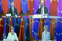 Toppmöte via webben mellan Kinas president Xi Jinping, EU:s permanente rådsordförande Charles Michel, Tysklands förbundskansler Angela Merkel och EU-kommissionens ordförande Ursula von der Leyen.
