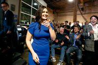 Abby Finkenauer segrade i Iowas distrikt.