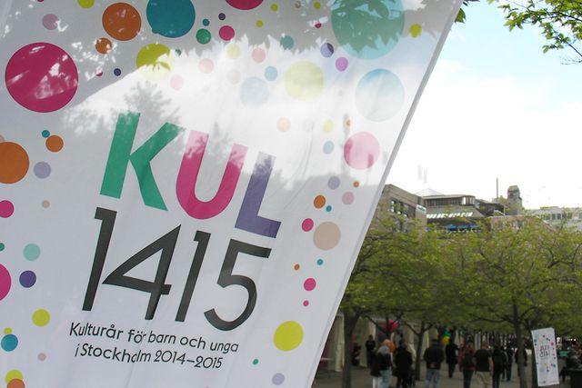 15 000 elever och lärare kom till Kungsträdgården den 20-21 maj för att ställa ut och delta i Kul1415 som avslutar kulturåret för barn och unga i Stockholm.