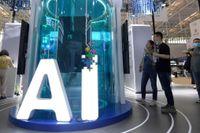 USA vill inte se sig omsprunget av en växande kinesisk AI-industri. Bilden är från World Intelligence Congress i Tianjin i Kina den 20 maj i år.