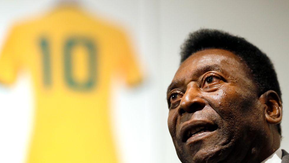 Brasilianske fotbollslegendaren Pelé.