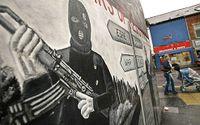 En av muralmålningarna på Shankhill street.