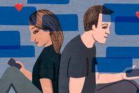 Förälskelsen föddes i sms:en – IRL tog allt slut