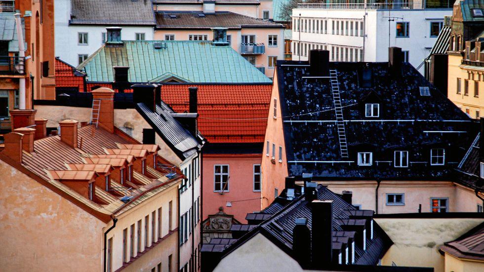 Hustak i Stockholm.