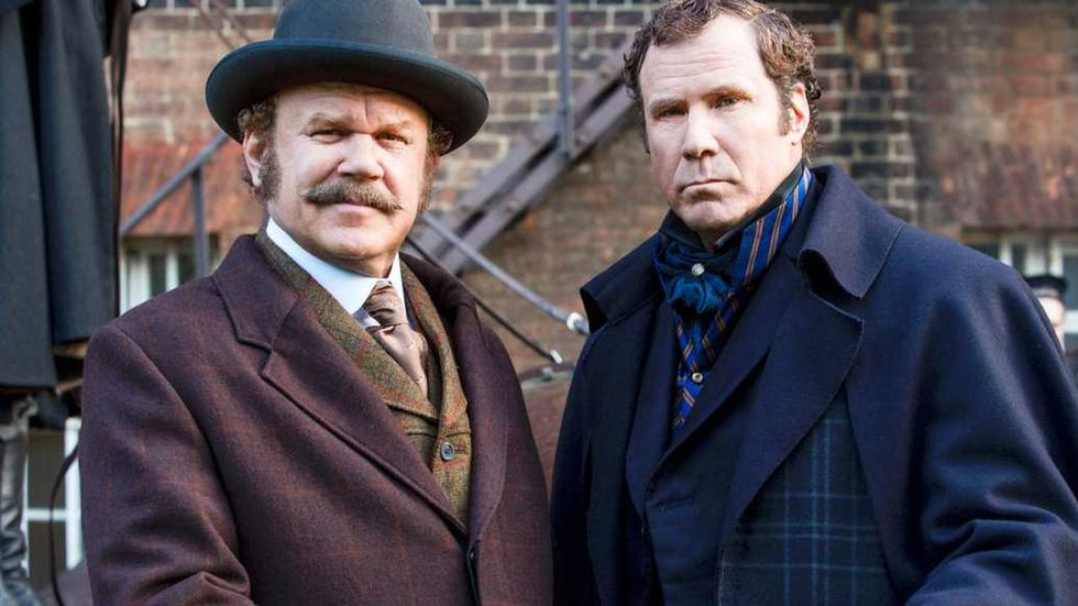 """Will Ferrell och John C Reilly i """"Holmes & Watson""""."""
