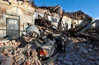 Förstörelse i staden Petrinja efter tisdagens jordskalv.