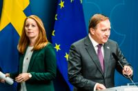 Annie Lööf (C) partiledare för Centerpartiet, och statsminister Stefan Löfven (S).