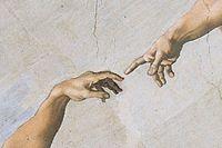"""Detalj ur Michelangelos """"Adams skapelse""""."""