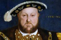 Porträtt av Henrik VIII efter en målning avHans Holbein den yngrefrån 1537.