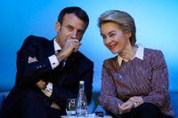 Frankrikes president Emmanuel Macron och EU-kommissionens tillträdande ordförande Ursula von der Leyen kan få det svårt att ordna godkänt för franske blivande kommissionären Thierry Breton. Arkivfoto.