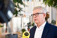 Ericssons vd Börje Ekholm intervjuas på huvudkontoret i Kista. Arkivbild.