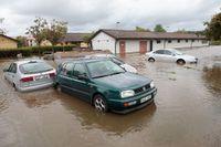 Översvämning i Getinge.