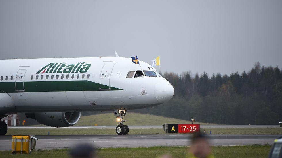 En krisplan för att stöpa om Alitalia till ITA, med en dryg halvering av både antalet flygplan och personal, har läckt ut i italiensk press. Arkivbild