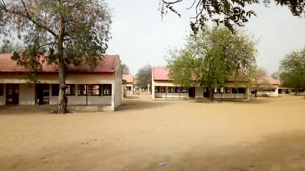 Platsen för kidnappningen i Dapchi i Nigeria.