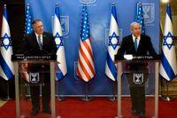 USA:s utrikesminister Mike Pompeo (till vänster) och Israels premiärminister Benjamin Netanyahu. Arkivbild.